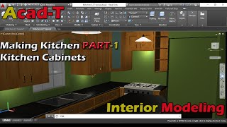 How To Make Kitchen in AutoCAD 2016 - Kitchen Cabinets - Kitchen Plan PART-1
