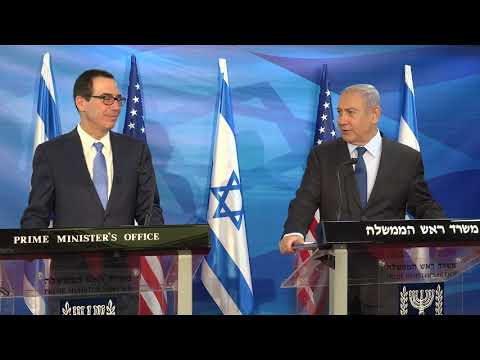 Secretary Mnuchin, Israeli PM Netanyahu Deliver Statements To Press At PMO October 2019