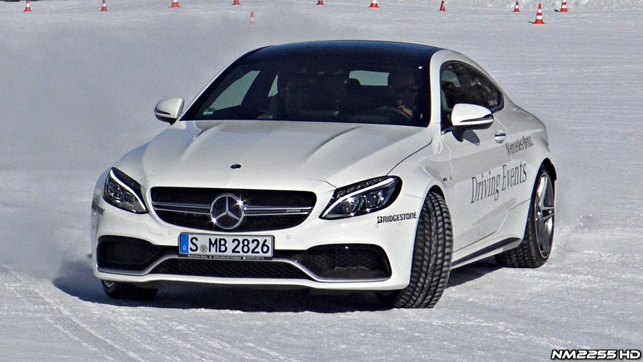 2017 White Mercedes Benz >> Mercedes C63 AMG S Coupe Drifting in the Snow!! - YouTube