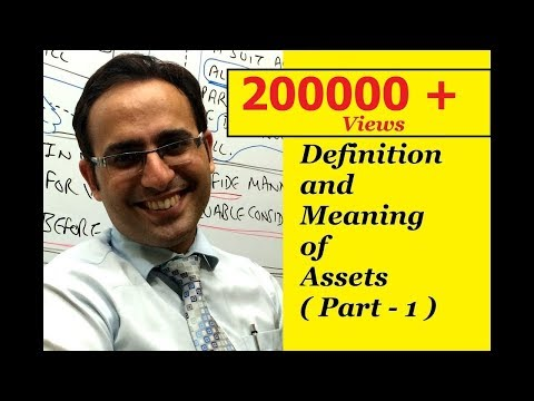 Basic Accounting Terms (Video-1) Introduction to Assets (Part-1)