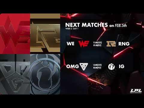VG Vs. DMO | EDG Vs. TES - Week 1 Day 7  | LPL Spring (2020)