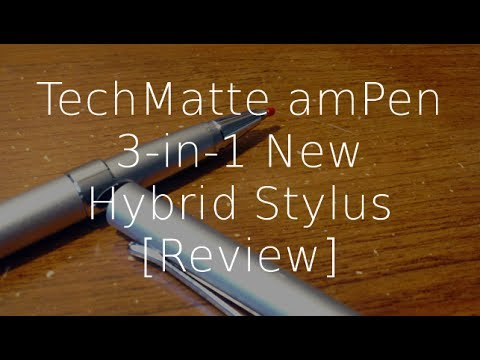 (NEW!) Review: TechMatte amPen 3-in-1 New Hybrid Stylus (Black and Silver)  (HD) | GeekHelpingHand
