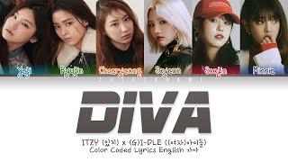 Download (여자)아이들 (G)I-DLE X ITZY (있지) (I-ITZY(아이-있지) - Diva (Color Coded Lyrics English 가사)