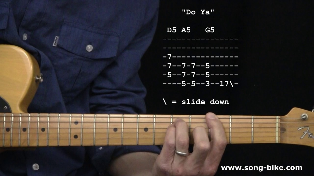 Do Ya By Electric Light Orchestra 365 Riffs For Beginning Guitar