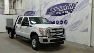 Pre-owned 2016 Ford Super Duty F-350 SRW CrewCab XLT Flat Deck W/ 6.2L Overview | Boundary Ford
