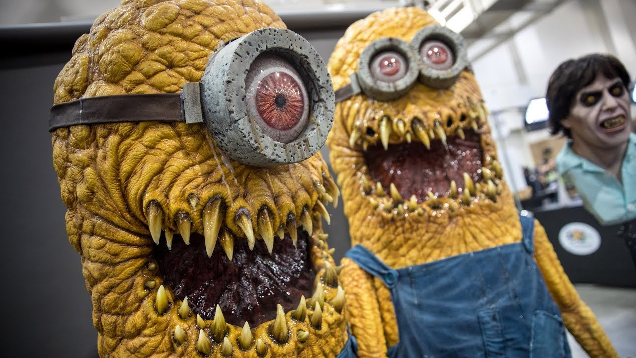 Creepy Minion Costumes at Monsterpalooza 2018!  sc 1 st  YouTube : minion costumes  - Germanpascual.Com