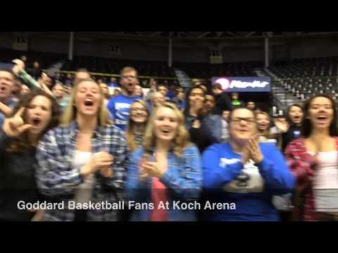Goddard Basketball Fans At Koch Arena