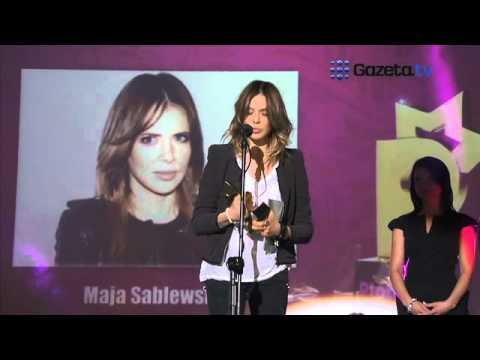 Maja Sablewska odbiera nagrodę w kategorii Menadżer Roku