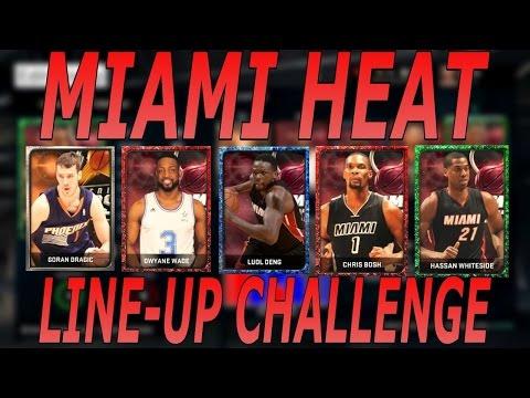 NBA 2K15 MyTEAM '15-'16 MIAMI HEAT LINE-UP CHALLENGE!!!