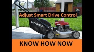How to Adjust Honda Mower Smart Drive Cable