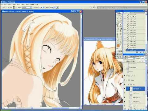 Anime Painting Photoshop Loligoth Pt1 - YouTube