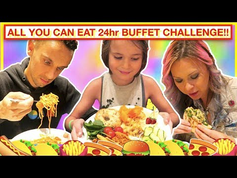 24 hour ALL YOU CAN EAT buffet challenge! 😋