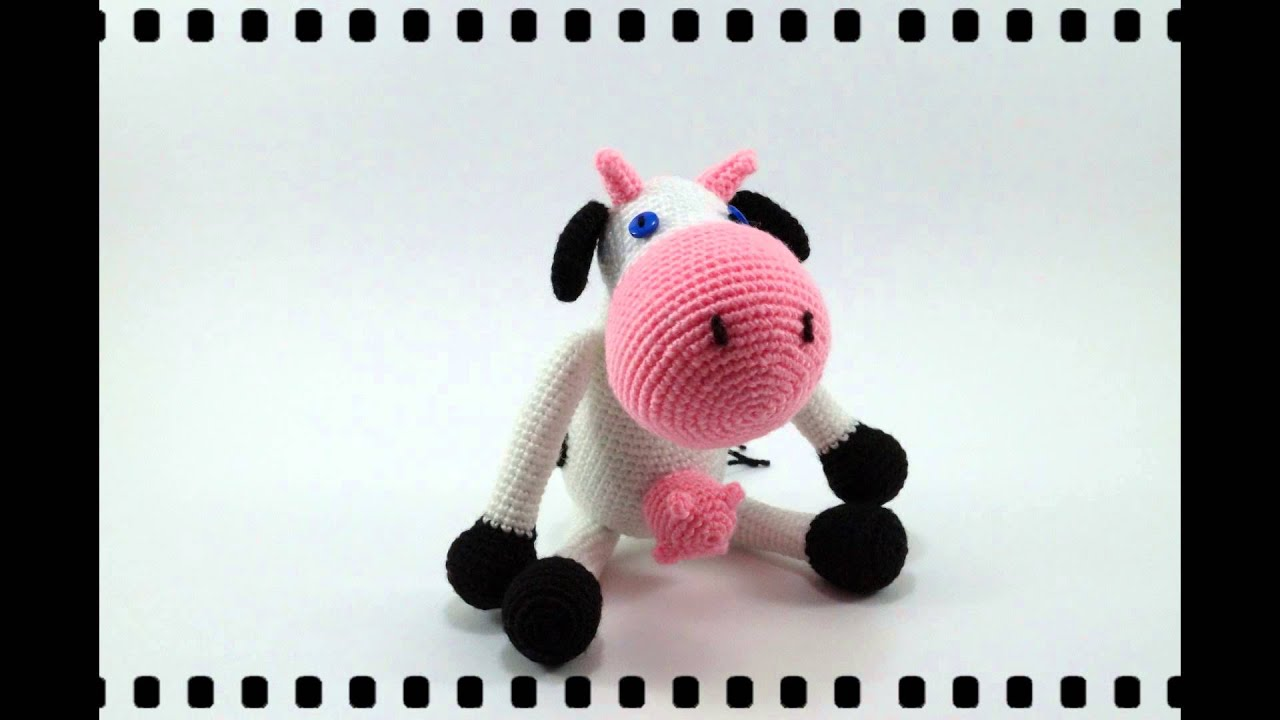 Amigurumi Vaca Pink Crochet - YouTube