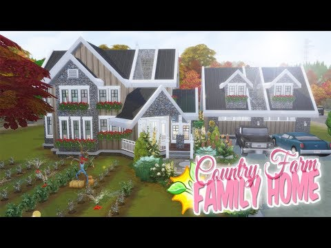 LARGE COUNTRY FARM HOUSE | The Sims 4 SPEED BUILD Big Family Home