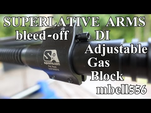 Superlative Arms DI Adjustable Gas Block Field Test: Bleed-o