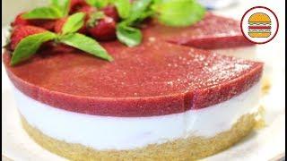Творожный торт без выпечки. Нежный, клубнично-мятный, сливочный торт без выпечки.