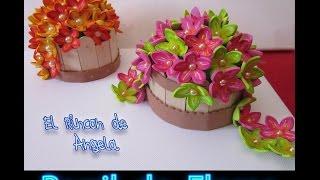 DIY Como hacer centro de flores con goma eva, foami