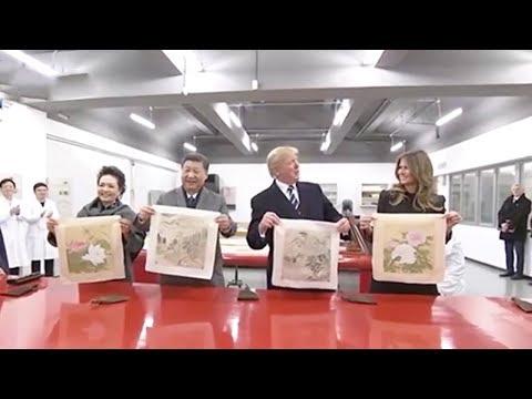 Xi and Trump watch craftsmen repair relics in Forbidden City