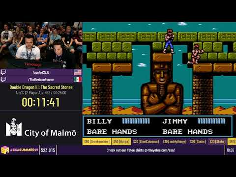 Double Dragon III: The Sacred Stones [Any% (2 Player A)] - #ESASummer19