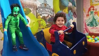 Yusuf Pretend Play with Playground | Learn Colors with Toys