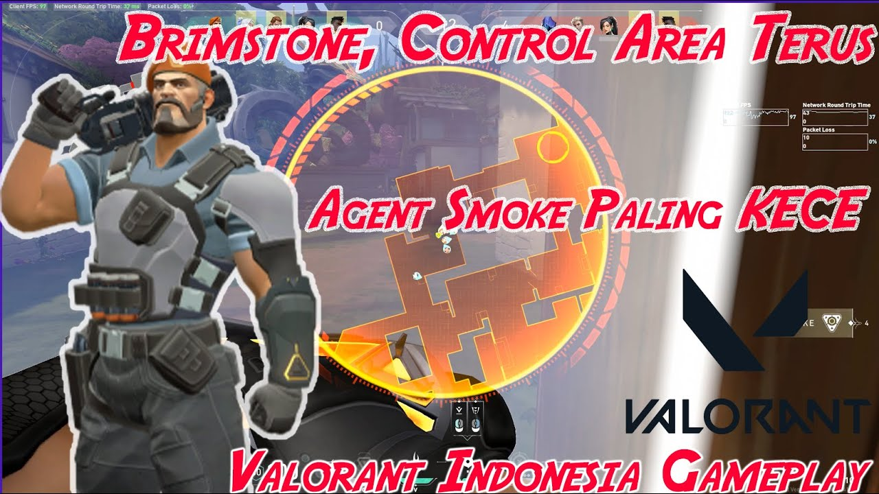 Brimstone Easy Control, Lancar Pushing, Lancar Defense (VALORANT Indonesia Gameplay)