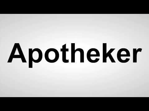 Apotheker - Deutsche Aussprache