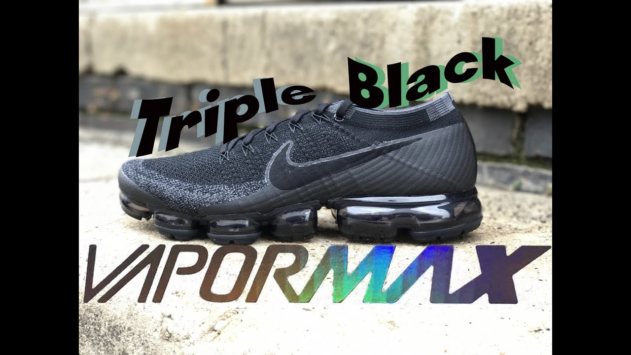 f74f679a2fd Nike Air Vapormax Triple Black 2.0 Review.... Sooo Nice!! - YouTube