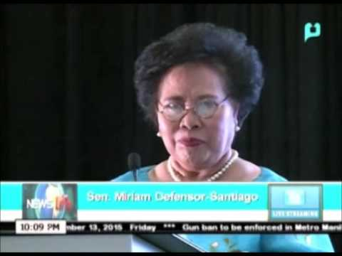 [NewsLife] Miriam Santiago pushes for earth-friendly jobs || Nov. 13, 2015