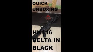 HK416 Delta Black Unboxing (First Person View)
