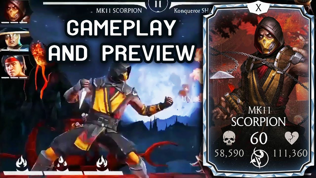 MKX Mobile Update News  MK 11 Scorpion Gameplay + Review  Mortal Kombat  Mobile Raiden Confirmed