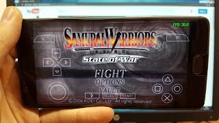 Samurai Warriors: State of War Android gameplay PSP emulator PPSSPP Snapdragon 821