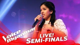 grace monica beautiful live semi final the voice myanmar 2018