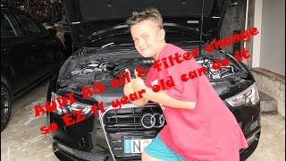 Audi A5 2012 2.0L TDI oil and filter change