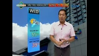 UB: Weather update as of 6:03 a.m. (April 25, 2018)