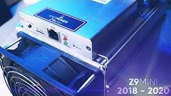 Antminer Z9 Mini: Last Update | Equihash Bitmain Miner | ZEC ZEN ARRR KMD BTG (2020) ASIC OC FW