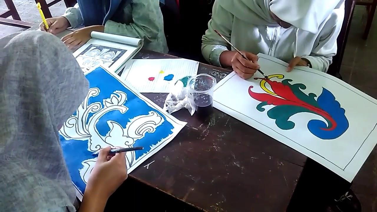 Praktek Seni Rupa Gambar Ragam Hias Nusantara Ornamen