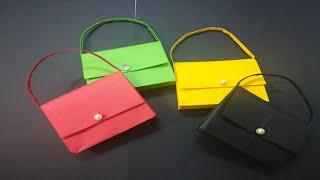 كيفية صنع حقيبة صغيرة بالورق للهدايا How to make a small paper bag for gifts - Origami