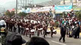 Desfile del CEP N. S. MONSERRAT en el 444 Aniversario del Distrito de Carabayllo - 2015