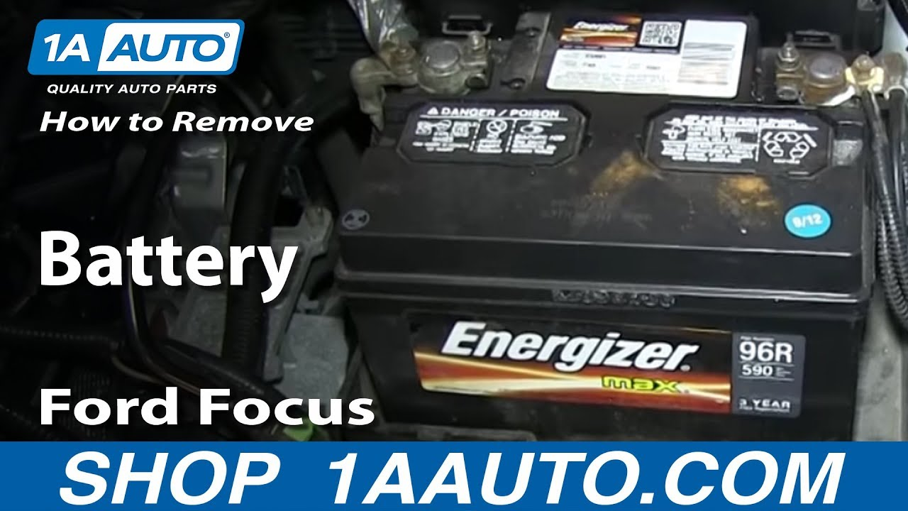 2005 Ford Alternator Wiring Diagram How To Replace Battery 00 07 Ford Focus Youtube