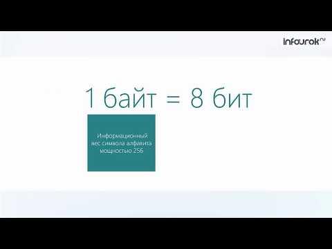10 Измерение информации   Информатика 7 класс #10   Инфоурок