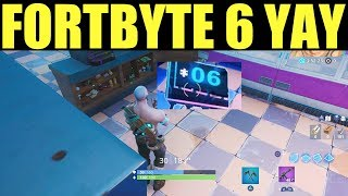Fortnite fortbyte #6 Location - Accessible with yay emote at Ice Cream Shop in the Desert