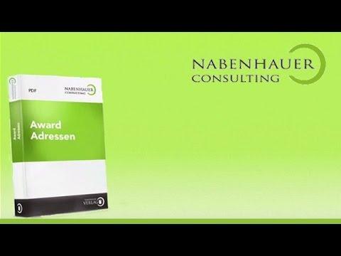 Award Adressen - Verzeichnisse für perfektes Online Marketing - Nabenhauer Consulting