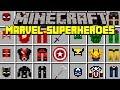Minecraft MARVEL SUPERHEROES MOD! | BLACK PANTHER, HULK, THOR, BATMAN, & MORE! | Modded Mini-Game