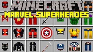 Minecraft MARVEL SUPERHEROES MOD! | BLACK PANTHER, HULK, THOR, BATMAN, & MORE! | Modded Mini-Game