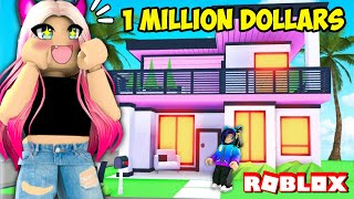 Wengie Builds Her First DREAM HOUSE In Adopt Me! Millionaire Mansion Speed Build Challenge