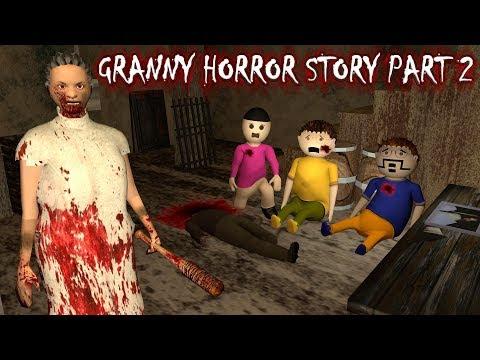 Android Game - Granny Horror Story Part 2 Animated Cartoon For Kids Make Joke Horror