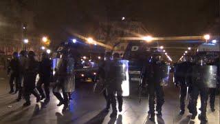 Affrontements après l'incendie d'une voiture de police - Nuit Debout / 23/04/16