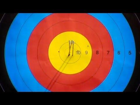 Incredible 3 Arrows Shot At 70 Metres By Olympic Champion Chang Hye Jin 장혜진