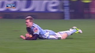 Owen Williams takes great line for his try - Munster v Cardiff Blues 05 Jan 2013 RaboDirect Pro12
