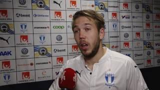 Anton Tinnerholm efter Malmö FF–Djurgården